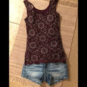 Buckle BKE fitted lace tank top